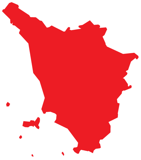 Map of Tuscany Region of Italy